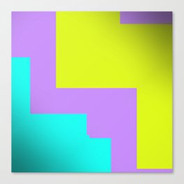Purple yellow and blue abstract art Canvas Print