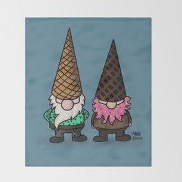 Ice Cream Gnomes Throw Blanket