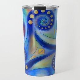 Anabressia - blue spiral planet Travel Mug