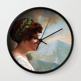 Escaping out of Pompeii Wall Clock