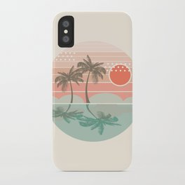 Dang - beach vibes minimal sunset sunrise ocean surfing nature palm tropical socal cali 70s style iPhone Case
