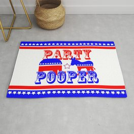 Election Party Pooper Rug