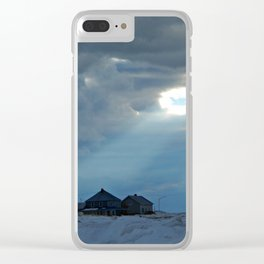 Whale Shaped Light Beam Clear iPhone Case
