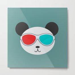 Panda 3D Metal Print