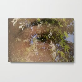 I see you in the leaves of trees Metal Print