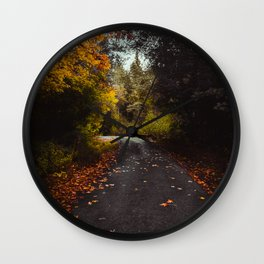 Autumn Road Wall Clock