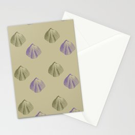 Gold and Purple Shells Stationery Cards