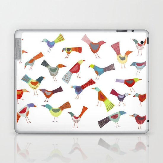 Birds doing bird things Laptop & iPad Skin