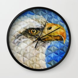 Geometric Cubism Eagle Oil Painting Wall Clock