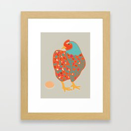 Mother Clucker Framed Art Print