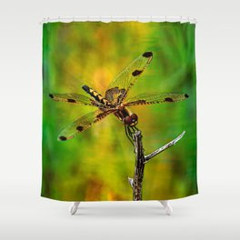 Gold Heart Dragonfly ~ Ginkelmier Inspired Shower Curtain
