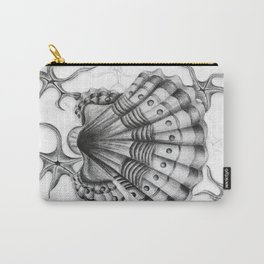 Dystopian Cockle - Black & White Carry-All Pouch