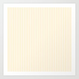 Classic Small Buttercup Yellow Pastel Butter French Mattress Ticking Double Stripes Art Print