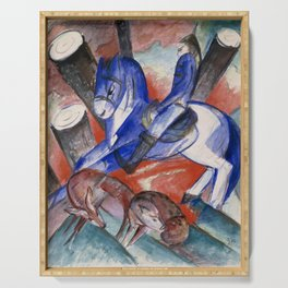 "Franz Marc ""Saint Julian l'Hospitalier"" Serving Tray"