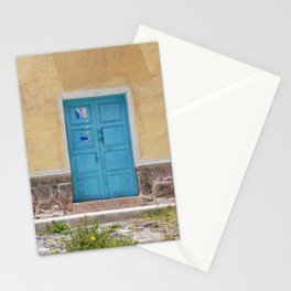 Bolivia door 7 blue on yellow Stationery Cards