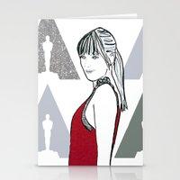 ysl Stationery Cards featuring Dakota by Kats Illustration