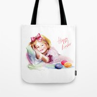 easter Tote Bags featuring Easter by tatiana-teni