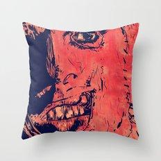 Icons: Leatherface Throw Pillow