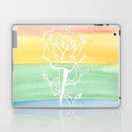 Rainbow Rose and Dagger Laptop & iPad Skin