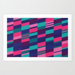 Neon Night Strips Art Print