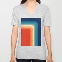 Retro 70s Color Palette III Unisex V-Neck