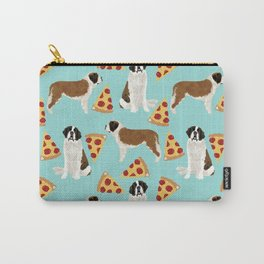 Saint Bernard pizza slices funny cute dog gifts for dog lover unique dog breeds Carry-All Pouch