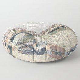 "Camille Pissarro ""Morning, An Overcast Day, Rouen"" Floor Pillow"