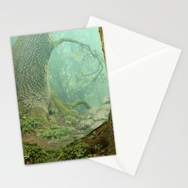 Enchanted misty forest Stationery Cards