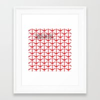 anchors Framed Art Prints featuring anchors by Cat Milchard