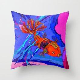 Robotic Fish Throw Pillow