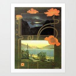 Vintage poster - Lago di Como Art Print