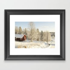 Finland in the winter #2 - Fiskars Artist Village  Framed Art Print