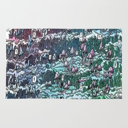 Little mushrooms –color Rug