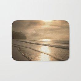 And so it Begins sunrise at Avila Beach California Bath Mat