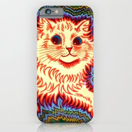Louis Wain Psychedelic Cat iPhone Case