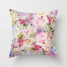 floral romance Throw Pillow