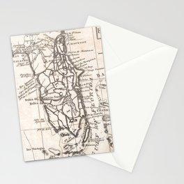 Vintage Map of Florida (1763) Stationery Cards