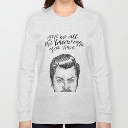 Ron Swanson. [Parks and Recreation] Long Sleeve T-shirt