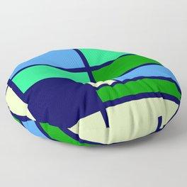Mondrianista green blue Floor Pillow