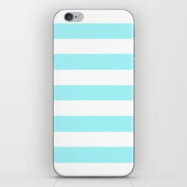 Waterspout - solid color - white stripes pattern iPhone Skin