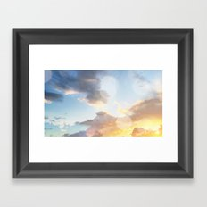 Full Glow Framed Art Print