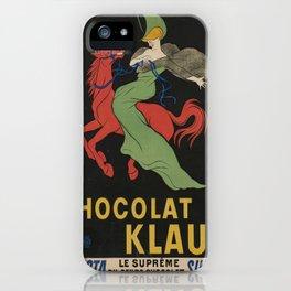 Vintage poster - Chocolat Klaus iPhone Case