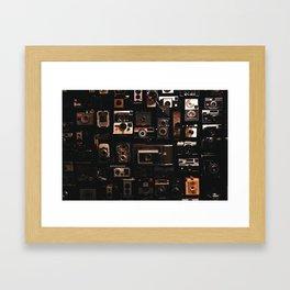 Camera Wall Framed Art Print