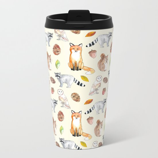 Woodland Critters Metal Travel Mug