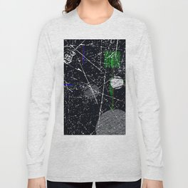 Abstract Black and White Etching Design Long Sleeve T-shirt