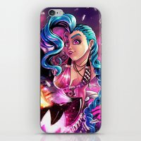 league of legends iPhone & iPod Skins featuring Jinx - League Of Legends by Shamfoo