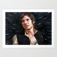 han solo Art Prints featuring Han Solo by Raiecha