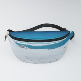 Blue and white Fanny Pack