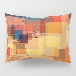 Multi color Square Geometrical Overlays Pillow Sham
