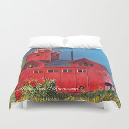 Sunset on Holland Light Focus Duvet Cover